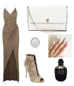 """set5"" by mureet ❤ liked on Polyvore featuring Balmain, Gianvito Rossi, Skagen, Alexander McQueen and Valextra"