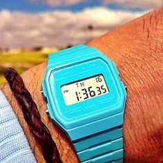 Casio Blue F-91W.