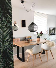 Home Decoration Design Ideas Info: 1389454820 Ikea Dinning Room, Dining Nook, Home Room Design, Dining Room Design, Interior Design Living Room, Small Living Dining, Ikea Interior, Ikea Design, Decoration Design