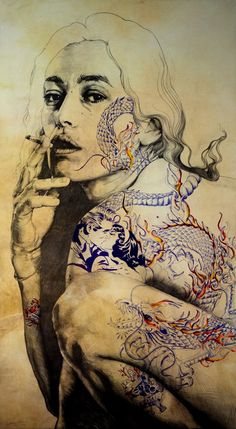 Illustration by artist Gabriel Moreno Gabriel, Art And Illustration, Inspiration Art, Art Inspo, Mc Bess, Art Amour, Street Art, A Level Art, Arte Pop