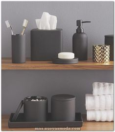 13 Ideas For Creating A More Manly, Masculine Bathroom // Matte black bathroom a. - 13 Ideas For Creating A More Manly, Masculine Bathroom // Matte black bathroom accessories add a ma - Masculine Bathroom, Masculine Interior, Masculine Apartment, Masculine Home Decor, Masculine Room, Masculine Bedrooms, Black Bathroom Decor, Modern Bathroom, Black Decor