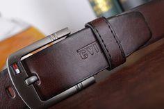 Cinturón Hombre Piel leather mens belt black pin buckle belts for men luxury Envío Gratis! Free Shipping!