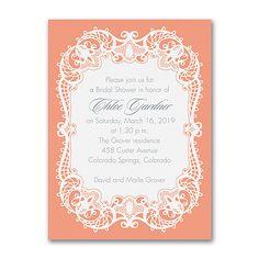 Graceful Lace - Bridal Shower Invitation