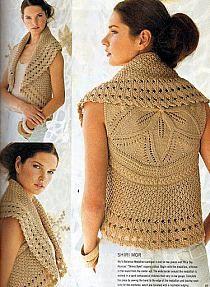sweter na szydełku ze schematem - Szukaj w Google