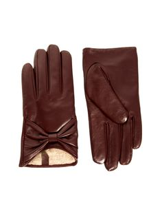 leather bow gloves! Need!!!
