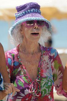 Cayetana Fitz-James Stuart, 18th Duchess of Alba, on vacation in Ibiza, 4 Aug 2013