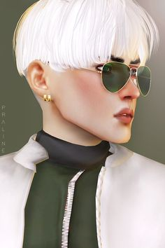 • Hair by @mmsims / Top + Jacket by @ryllaesims / Pose by @catsblob Glasses, Piercings (WIP) by me