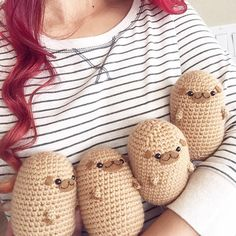 Crochet Pugtato Amigurumi Pattern by MyBackyardMonsters on Etsy