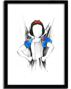 New Print by Alexis Marcou available in your store -> https://goo.gl/UqKgzS // www.artandtoys.com #art #print #alexismarcou #snowwhite and more .... @alexismarcou #disney #face