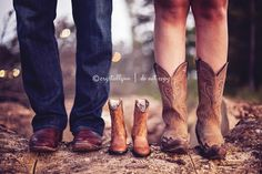 Daddy, baby, and mommy boots