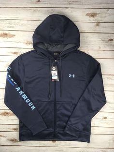 Womens Under Armour Hoodie Coldgear Zip Jacket Sweatshirt Coat Navy Blue  Grey XL  Underarmour   48348f8c5