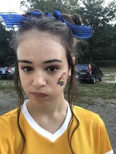 """""""So it went from scorching hot to pouring rain on the football field. Josie nor Kaylee was happy about it. But hey, hair was cute. Alter Ego, Cw Series, Vampires And Werewolves, Original Vampire, Female Fighter, Vampire Diaries The Originals, Delena, The Cw, Pretty Girls"""