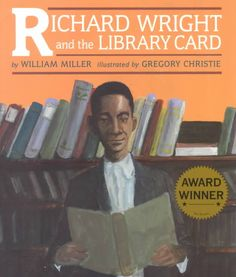 Based on a scene from Wright's autobiography, Black boy, in which the seventeen-year-old African-American borrows a white man's library card and devours every book as a ticket to freedom. Color: Black