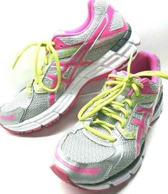 ece1bea297235 ASICS Women's Gel-Excite 3 Running Shoe Size 10.5 Pink, Gray, Yellow T5B9N  EUC #ASICS #RunningShoes