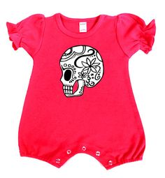 Sugar Skull Romper  http://www.punkbabyclothes.net/shop/product_info.php?cPath=21_125_41_id=9054