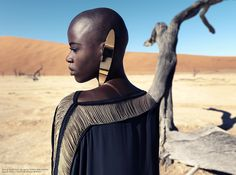 Christoph Köstlin - those without Shadows // 02 // Namibia // Sossusvlei // desert editorial // fashion editorial // black skin // fashion model // african model // south africa