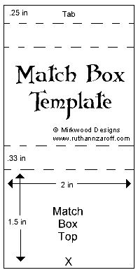 Design Ideas  This match box cover is exactly the right size to fit the smallest size pad of Post-It notes (2 x 1.5 inches), so instead of making the box bottom, slip a package of notes inside the decorated top!
