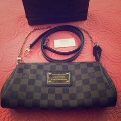 Louis Vuitton Eva Clutch in Damier Ebene 100% authentic Louis Vuitton Eva Clutch in Damier Ebene. I used it couple times. Minimal sign of wear. There is a small scuff as posted but other than that the bag is in immaculate condition. Feel free to ask questions. Bag will come as pictured. Due to Poshmark taking percentage with my earnings this bag is posted through Mercari App with cheaper price. Feel free to check it out. Louis Vuitton Bags Crossbody Bags
