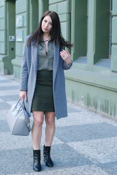 total DIY look (skirt, coat and shirt)