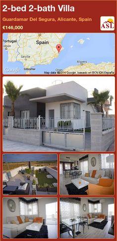 2-bed 2-bath Villa in Guardamar Del Segura, Alicante, Spain ►€146,000 #PropertyForSaleInSpain