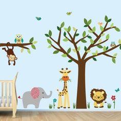 Amazon.com: Safari Decal, Nursery Safari Wall Decals (Silver Mist): Home & Kitchen
