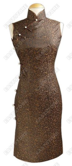 Try Silk Crape Knee-Length Cheongsam on and express a elegant feeling in any occasion.The Faux...