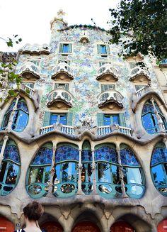 Casa Batlo by Gaudi. Barcelona, Spain