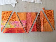 "OK, so you have scraps, and you sew them into slabs.  And you lay your template on it, and you say, ""DAMMIT."" But fear not, just rem..."