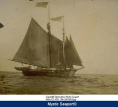 Whaling schooner Margarett departing on last whaling voyage out of New London. :: Connecticut History Online