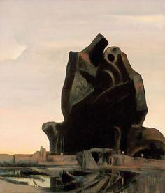 Rick Amor Australian Painting, Italian Painters, Vintage Artwork, Contemporary Artists, Surrealism, Landscapes, Illustration Art, Lion Sculpture, Paintings