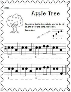 Learn Piano By Ear Apple Tree Freebies! by Jamie Parker Elementary Choir, Elementary Music Lessons, Piano Lessons, Music Education Lessons, Physical Education, Health Education, Piano Teaching, Learning Piano, Teaching Tools