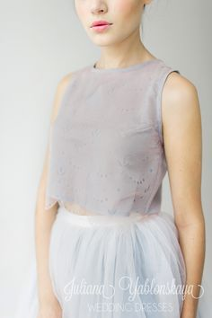 lilac grey in spring-summer collection 2016 de Juliana Yablonskaya yablonskaya.com Lilac Grey, Gray Weddings, Summer Collection, Wedding Colors, Tulle, Wedding Inspiration, Ballet Skirt, Spring Summer, Wedding Dresses
