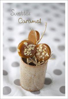 Sucettes au caramel au beurre salé ajouter un petit carton de remerciement