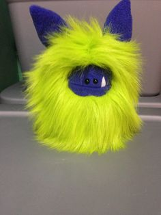 Hello Lime Green Fur!  Love this new Fuzzling - very bright and cheerful