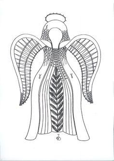 Andele 3MB - isamamo - Picasa Webalbums Bobbin Lace Patterns, Lace Heart, Lace Jewelry, Lace Making, Cutwork, Lace Design, Lace Knitting, Blackwork, Lace Detail