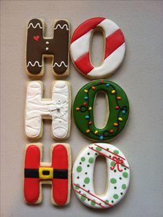 Ho ho ho Christmas cookies