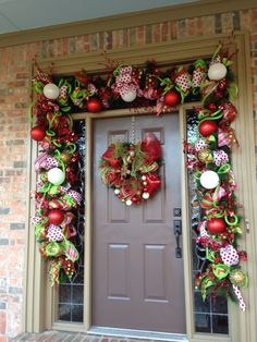 Whimsical Christmas doorway From Southern and Sassy Door Decor and More on Facebook