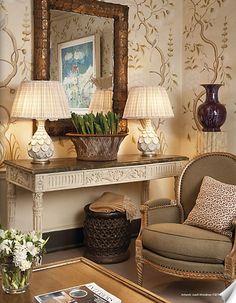 Elegant space created using Colefax & Fowler products. #interior #design #fabrics