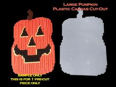 This item is unavailable Plastic Canvas Ornaments, Plastic Canvas Crafts, Plastic Canvas Patterns, Pattern Pictures, Pattern Images, Halloween Ornaments, Halloween Pumpkins, Halloween Decorations, Halloween Canvas