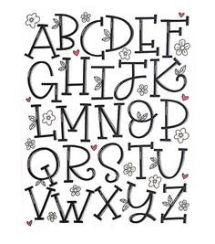 Happy almost Friday! Here's my serif alphabet for and Hand Lettering Alphabet, Doodle Lettering, Creative Lettering, Lettering Styles, Calligraphy Letters, Brush Lettering, Graffiti Lettering, Lettering Tutorial, Handlettering Abc