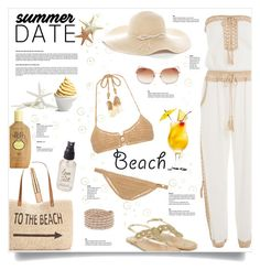 """Summer Date at the Beach"" by kiki-bi ❤ liked on Polyvore featuring Anna Kosturova, Style & Co., Monsoon, SHE MADE ME, Sun Bum, Chico's, Olivine, Estée Lauder, Disney and Chan Luu"