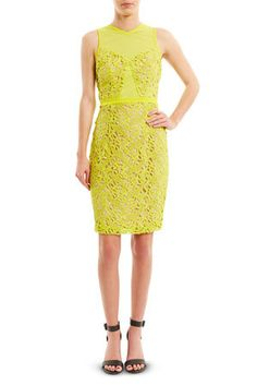 Yellowlace rising sun dress