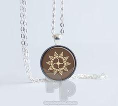 Sun Star Mandala Peace Calm Art Pendant by ThePendantPlanet