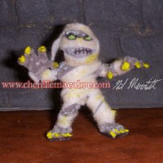 Mummy Pipe Cleaner Miniature by ChenilleMacabre on Etsy! Buy him today!