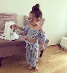 para niñas y niños Nail Art nail art printer Little Girl Outfits, Toddler Girl Outfits, Little Girl Dresses, Baby Girl Fashion, Toddler Fashion, Kids Fashion, Cute Baby Girl, Cute Little Girls, Outfits Niños