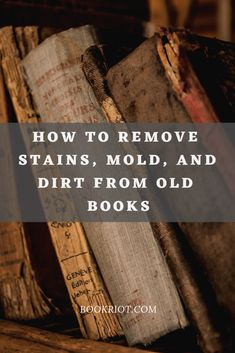 Thanks for the shout out in your article, BookRiot & Anna Gooding-Call! How To Clean Books: Remove Stains, Mold, and Dirt From Old Books features a link to our article on cleaning mold and mildew from books. Deep Cleaning Tips, House Cleaning Tips, Cleaning Solutions, Spring Cleaning, Cleaning Hacks, Cleaning Products, All You Need Is, That Way, How Are You Feeling