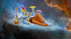 Vishnu by SerSpiriT on DeviantArt Lord Vishnu, Lord Shiva, Indian Drawing, Durga Painting, Little Krishna, Krishna Art, Radhe Krishna, Hanuman, Bhagavata Purana