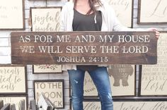 1'X4' As For Me And My House We Will Serve The by TheShedInteriors