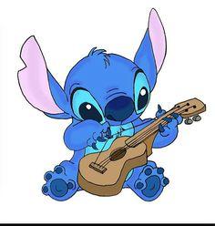 Stitch playing an instrument!