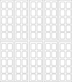 Moldes Para Unhas Decoradas Para Imprimir - Moldes Prontos pra Adesivos de Unhas Cartelas prontas p